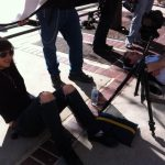 our wonderful DP chills between takes