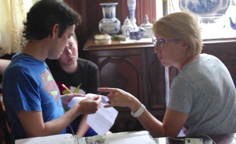 Marian discusses the script